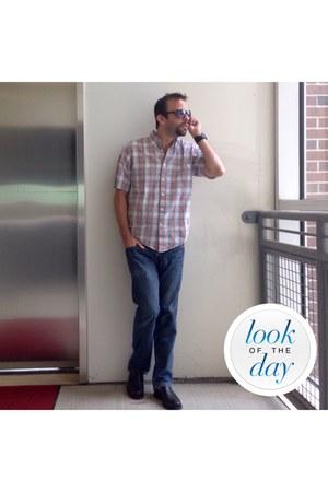 DKNY jeans - IZOD shirt - SWG sunglasses - coach loafers