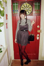 Gray-urban-outfitters-dress-black-h-m-belt-black-macys-tights-white-foreve