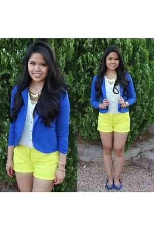 Rhapsodielle blazer - Target shorts - Forever21 blouse