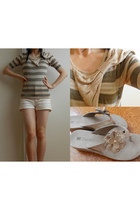 neutral Only sweater - white JayJays shorts - beige novo shoes wedges