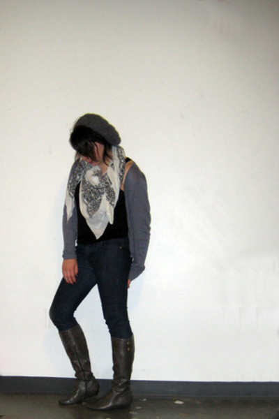H&M top - H&M sweater - Forever21 jeans - Target shoes - Urban Outfitters scarf