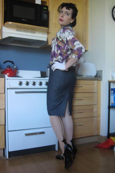 Forever21 dress - population sweater - leg avenue stockings - Miss Me shoes - vi