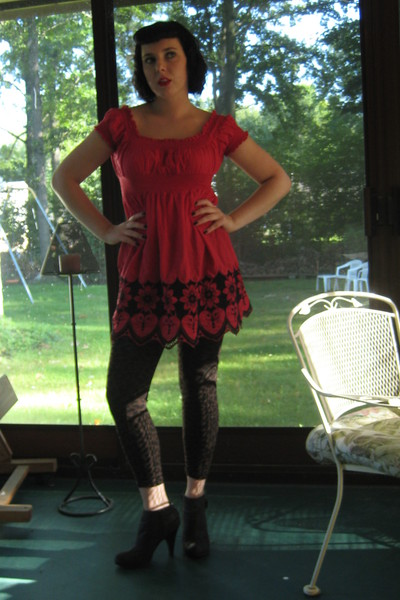 Portuguese market shirt - Forever21 leggings - Target boots - Craft store access