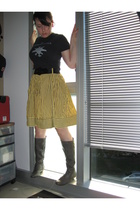 American Apparel t-shirt - belt - skirt - shoes