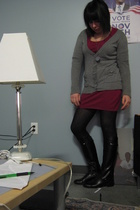 H&M dress - H&M tights - Dockers shoes - H&M sweater