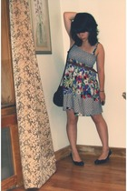 THIRFT STORE dress - H&M accessories - forever 21 accessories - Bandolino shoes