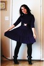 Purple-macys-dress-black-leggings-black-charming-charlie-boots-black-rue-2