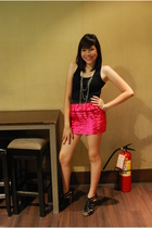 Pink Manila skirt - janilyn shoes - Zara top - Tomato Wade accessories