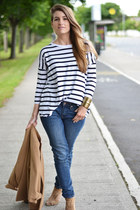 navy Zara top