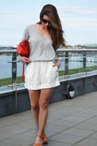 ivory Zara shorts - silver River Island top