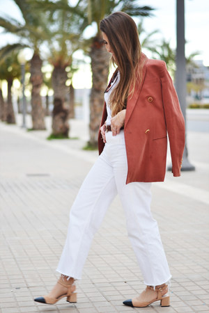 burnt orange Mango blazer