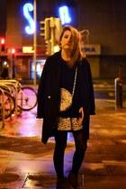 heather gray Mademoiselle Chocolat bag - black Century 21 skirt