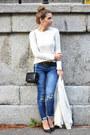 White-zara-sweater