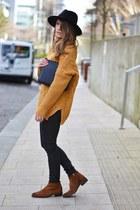 light orange tidebuy sweater - black tidebuy bag