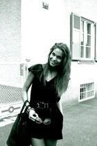 black calvin klein bag - H&M dress
