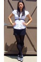 wwwvintageturtleetsycom belt - hogan shoes - Hong Kong skirt - banana republic b