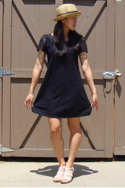 Forever21 dress - quicksilver hat - aerosoles shoes