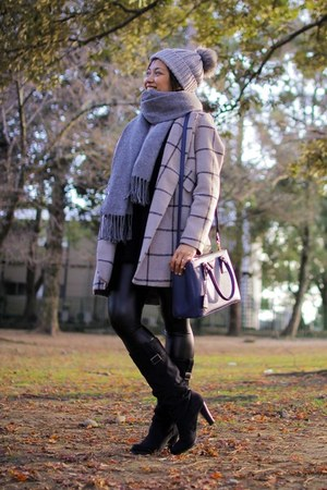Sheinsidecom coat - Zara boots - Prada bag - Topshop hair accessory