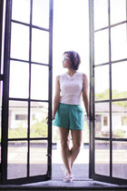 Promod shirt - The Ramp shorts - Forever 21 sunglasses