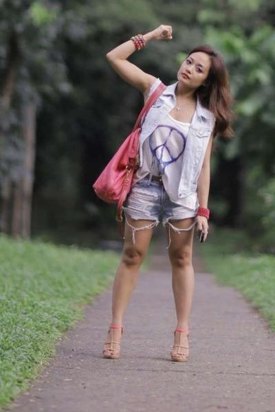 H&M shirt - H&M vest - Forever 21 heels