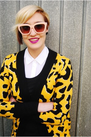 Spurr boots - bardot jacket - Sportsgirl sunglasses - OnlyAvailable cardigan