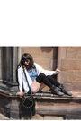 Black-topshop-bag-vintage-cardigan-gray-boots-blue-topshop-dress-black-v