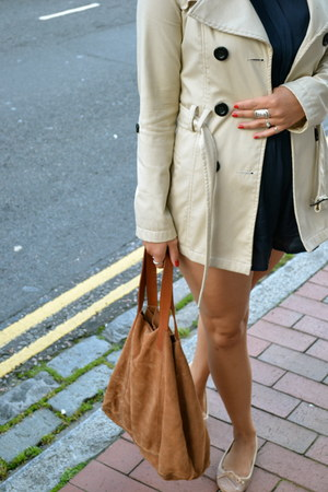 Zara bag - new look jacket - Topshop flats - Miss Selfridge romper