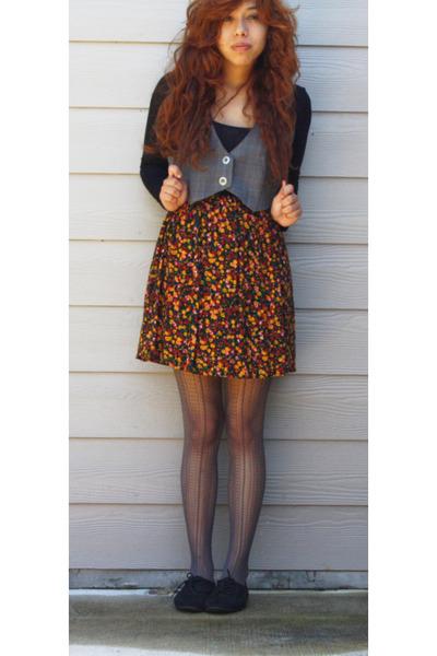 Black Floral Be Bop Dresses Charcoal Gray Lines Walmart Stockings