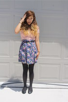 navy All That Jazz skirt - black boring Soda flats