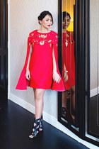 red dress Fiziwoo cape
