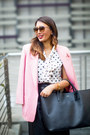 Bubble-gum-wool-maxmara-blazer-white-alice-olivia-shirt-black-smythson-bag