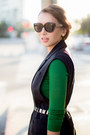 Black-david-kind-sunglasses-black-zara-vest-black-christian-louboutin-heels