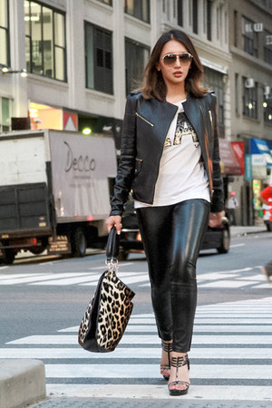 black leather Thomas Wylde jacket - black leather Thomas Wylde leggings