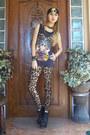 Camel-leopard-print-aldo-leggings-black-lita-esque-shop-dainty-boots