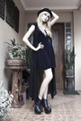 Black-shop-dainty-boots-black-vintage-dress-black-h-m-hat