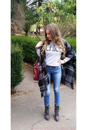 SOliver boots - H&M shirt - Zara bag - SOliver cape