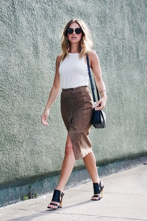 All Saints top - suede All Saints skirt