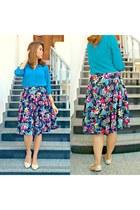 Bershka skirt - H&M blouse - Vincci flats