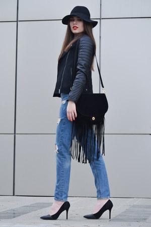c&a jacket - Zara jeans - Zara hat - Stradivarius shirt - H&M bag