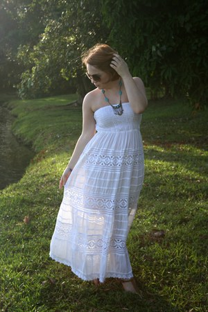 white thrifted dress