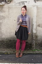 light purple Target shirt - dark brown Guess boots - silver Target cardigan
