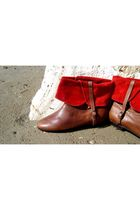 Brown-lauro-righi-boots-red