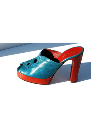 blue Lauro Righi shoes - orange