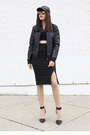Quilted-forever-21-jacket-forever-21-skirt
