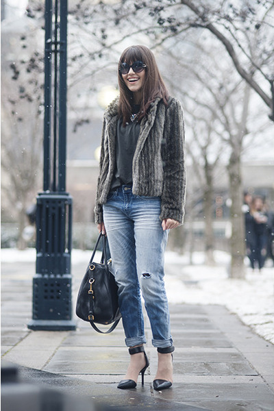 boyfriend H&M jeans - Alexander Wang heels
