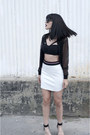 Mesh-aka-clothing-jacket-criss-cross-titika-bra-neoprene-topshop-skirt