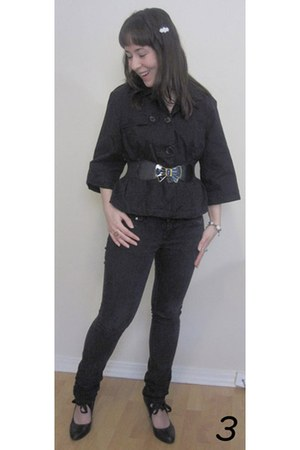 black Bluenotes jeans - black Old Navy jacket - black From China heels - white H