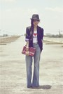 Sky-blue-topshop-jeans-black-topshop-blazer-maroon-vintage-purse