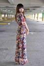 My-friends-dress-thrifted-bag-parisian-heels
