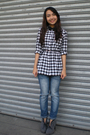 White-dorothy-perkins-shirt-thrifted-jeans-gray-parisian-shoes-black-sm-ki
